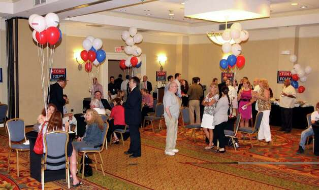 Supporters attend Tom Foley's primary day party at the Mariott Hotel in Rocky Hill, Conn. on Tuesday August 10, 2010. Photo: Christian Abraham / Connecticut Post
