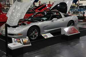 With the exception of the rear  bumper, Evans' Corvette wears its original Chevrolet paint.