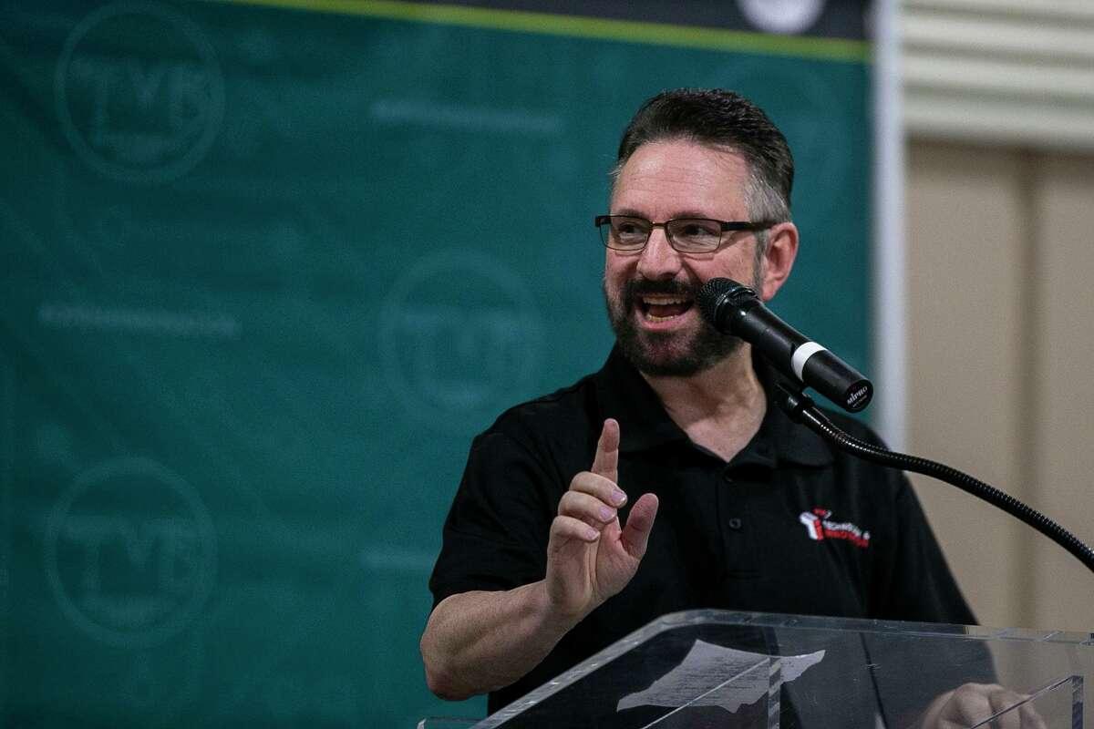 VIA Metropolitan Transit CEO Jeff Arndt speaks at the annual Texas Mobility Summit in the Freeman Coliseum last November.