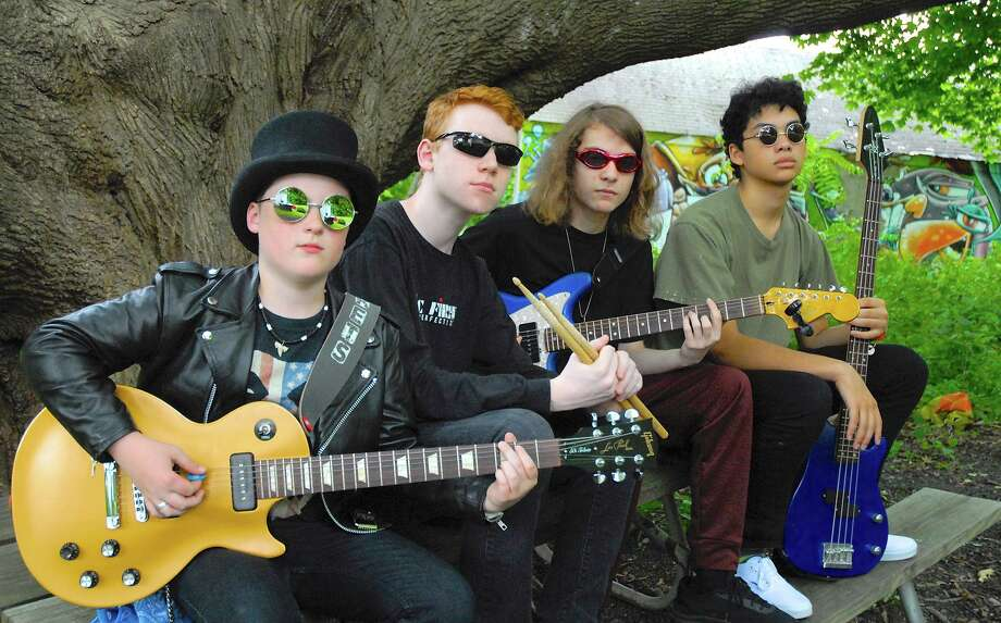 Freedom Rockets, the only Ridgefield-based band to be chosen to compete in BandJam 2019, is a power-punk, rock band featuring Jimy Bishop, David Bryce, Andrew Diaz, and Aidan Schoeffler on bass/vocals Photo: Brad Joblin / Contributed Photo
