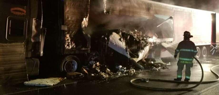 Major crash shuts down I-5 North in Lakewood Photo: Courtesy WSDOT