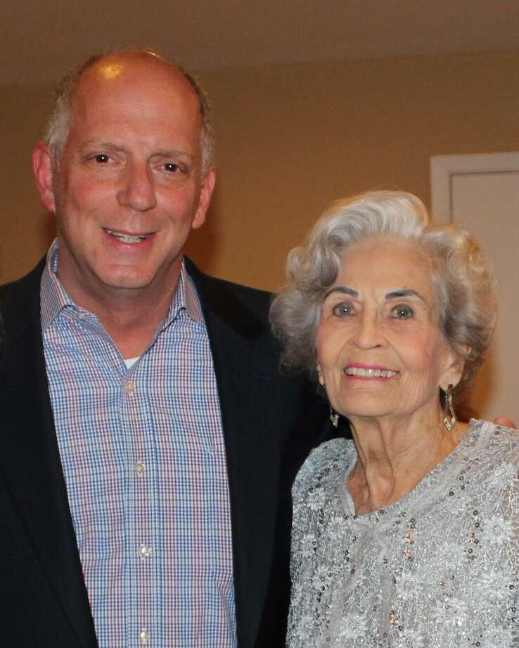 Treemont executive director Rodney Brooks with his grandmother, Margaret McCoslin.