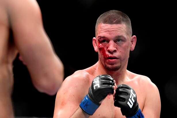 Nate Díaz, en la pelea que perdió ante Jorge Masvidal en el Madison Square Garden de Nueva York.