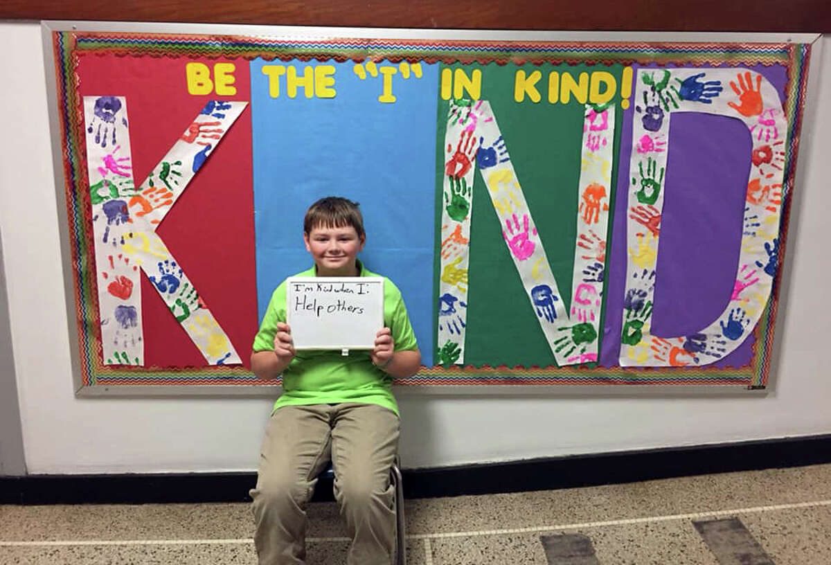 In an effort to spread kindness, Crossroads Charter Academy students shared how they are kind toward others. Here is what they came up with...