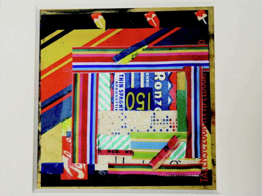 """Kitchen Square,"" a collage on wood by Carol Nipomnich Dixon, will be on exhibit in the ASOG's 2019 Holiday Art Show and Sale through December at the Gertrude White Gallery, Greenwich. Photo: ASOG / Contributed Photo"