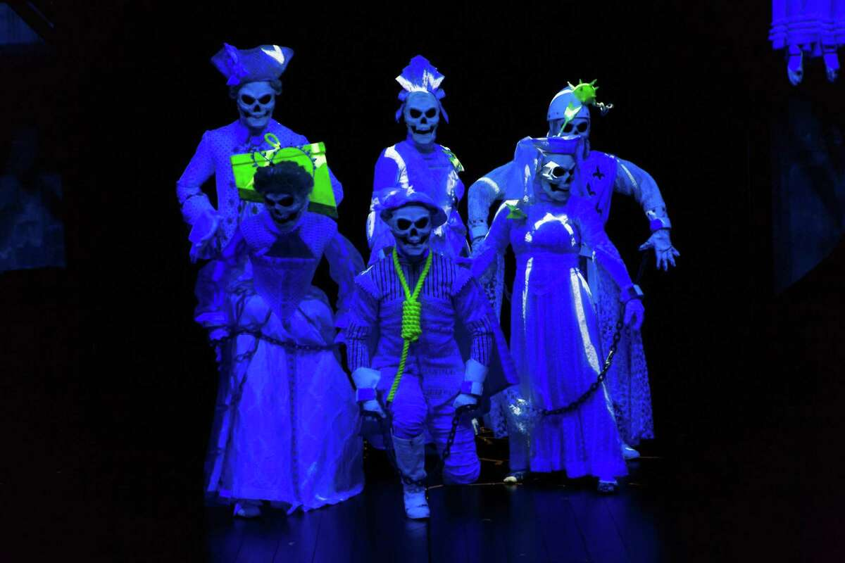 Ghosts, including Sarah Killough, in the back row, middle, appear in