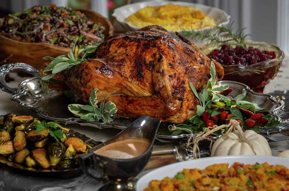 Roasted Turkey with Texas Pink Grapefruit & Chile-Spiced Chocolate Glaze