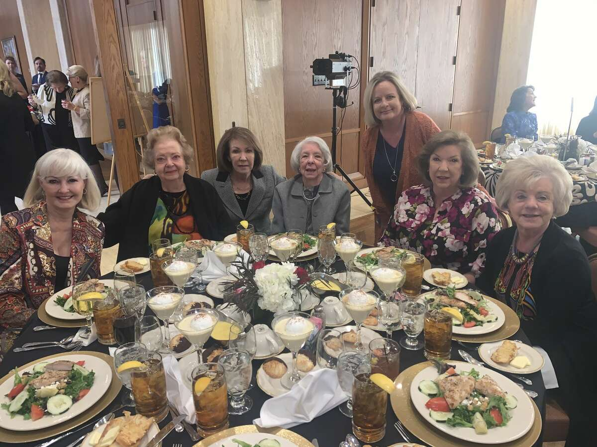 Petroleum Club: Cathie Part, standing, and Melinda Hancock, sitting from left, Betty Tull, Diane Brown, Merry Watson, Sandy Scott and Brandee Baskerville