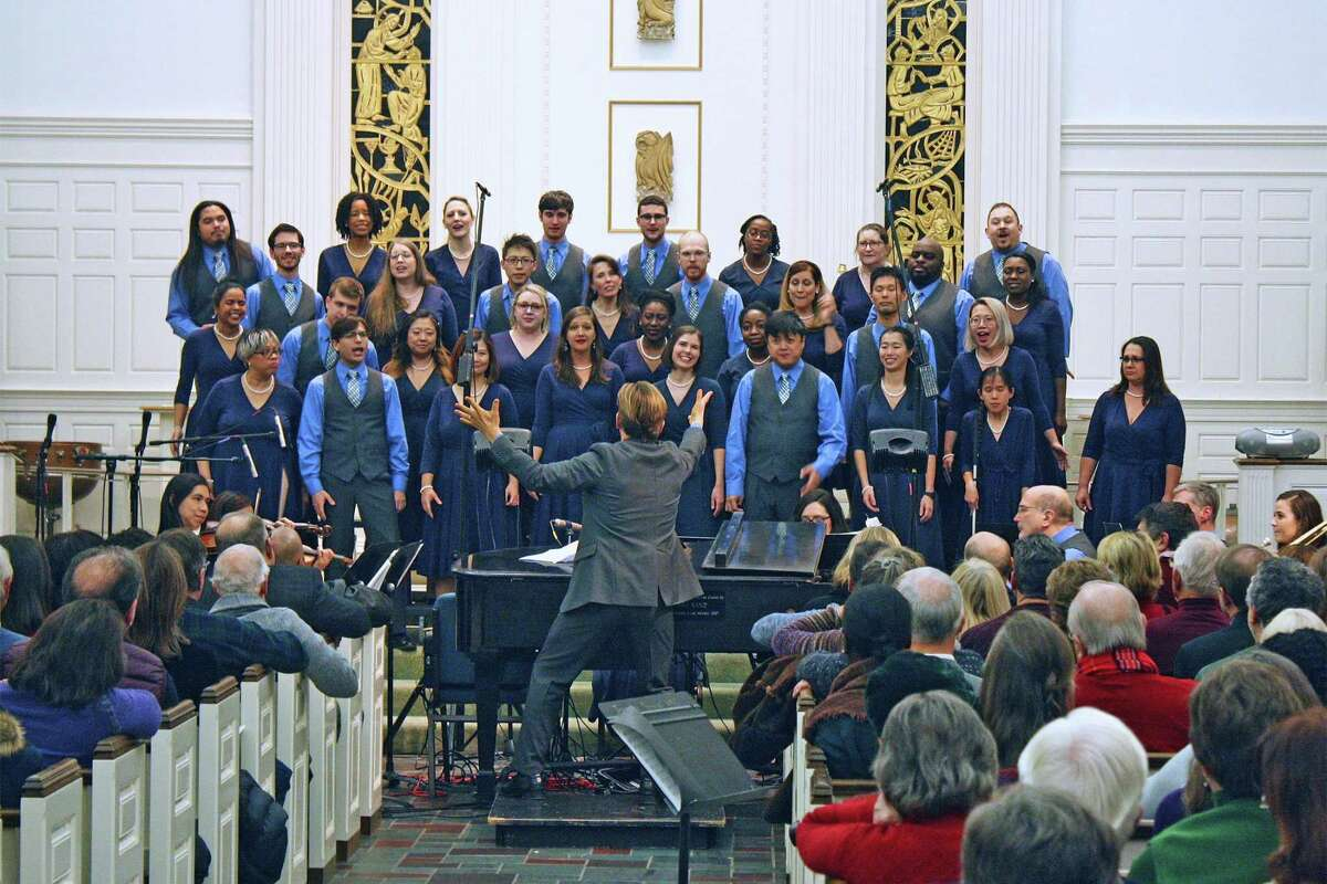 The SymphoNYChorus presents its 12th annual Christmas concert at Jesse Lee Memorial United Methodist Church in Ridgefield on December 14.