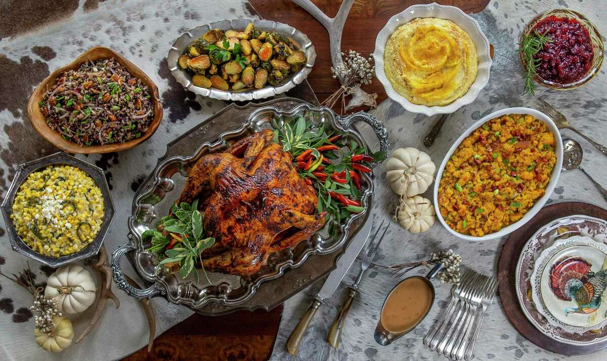 Our Thanksgiving feast features dishes invested with Texas flavors. Styling and recipe testing by Carla Buerkle.