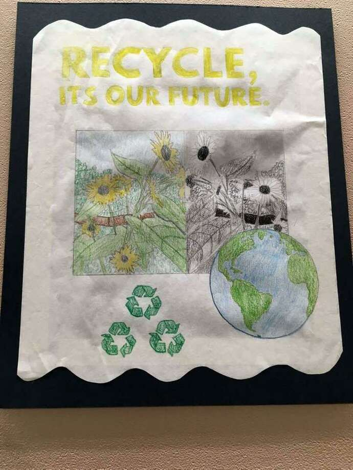 America Recycles winning poster by Olivia Mannino, grade 9, Wilton High School. Photo: Contributed Photo / / Wilton Bulletin Contributed