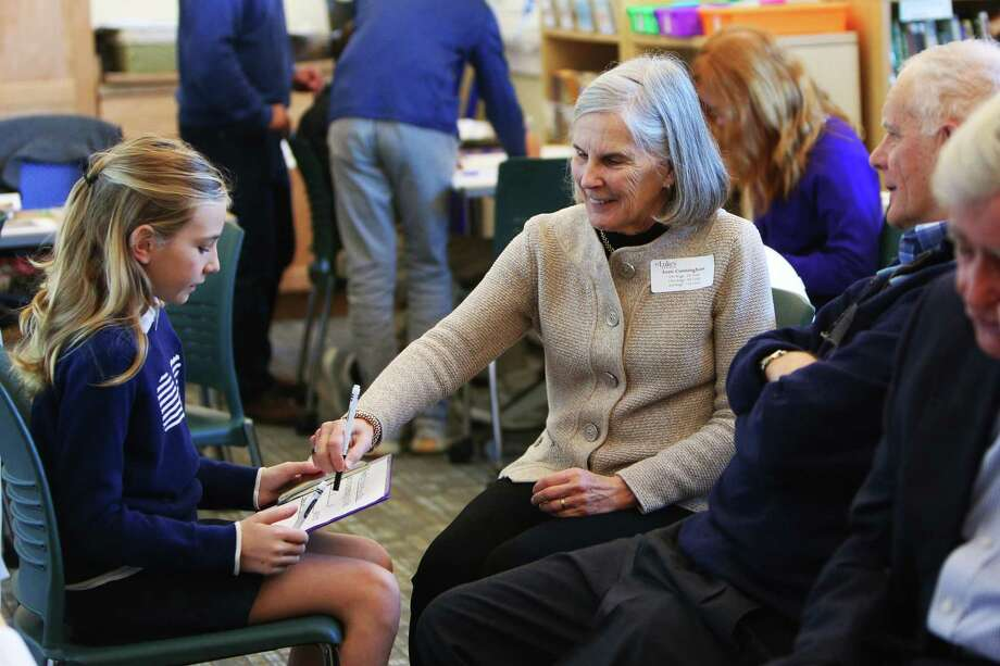 On Nov. 15, more than 60 St. Luke's grandparents and special friends of fifth graders joined the school to celebrate Grandparents/Special Friends Day and Veterans Day. Photo: Contributed Photo