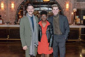 Radu Barbuceanu, Madison Petaway and Jackson Neal   Writers in the Schools gala