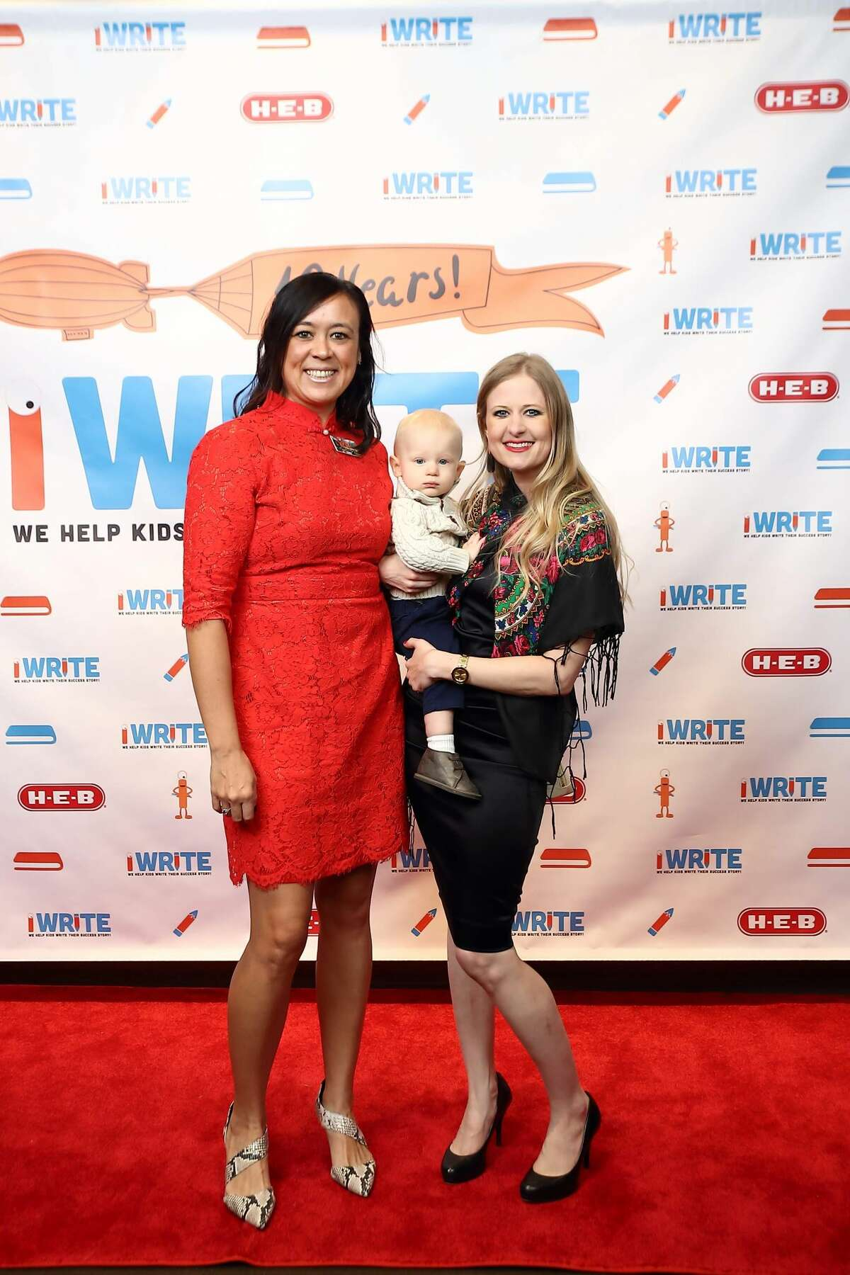 Josephine Firat, Melissa Williams and son at the 10th annual iWrite Literacy Organization luncheon and book signing