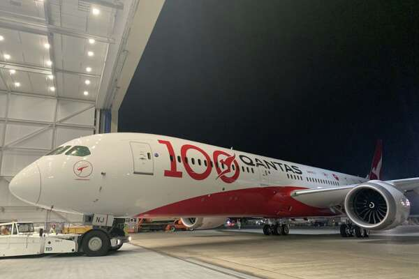 To start the celebration of its 100th year, Qantas gave a Boeing 787 Dreamliner a special livery, and is also offering a few $100 fares to Australia