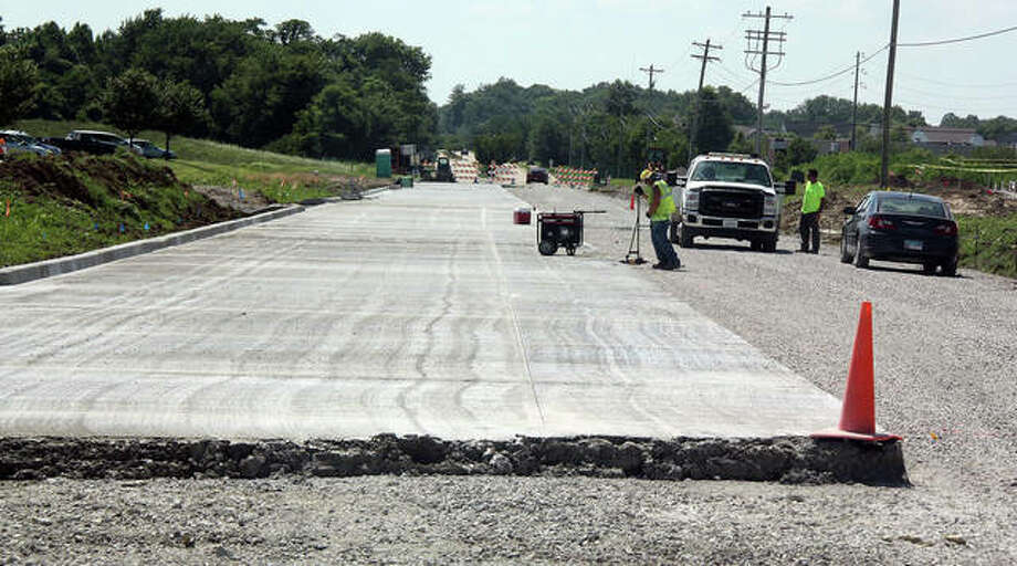 The section of Goshen Road that was rebuilt in front of the YMCA during the summer is the preview of a larger effort to widen and rebuild the road east to Sports Park Drive at Plummer Family Sports Park.