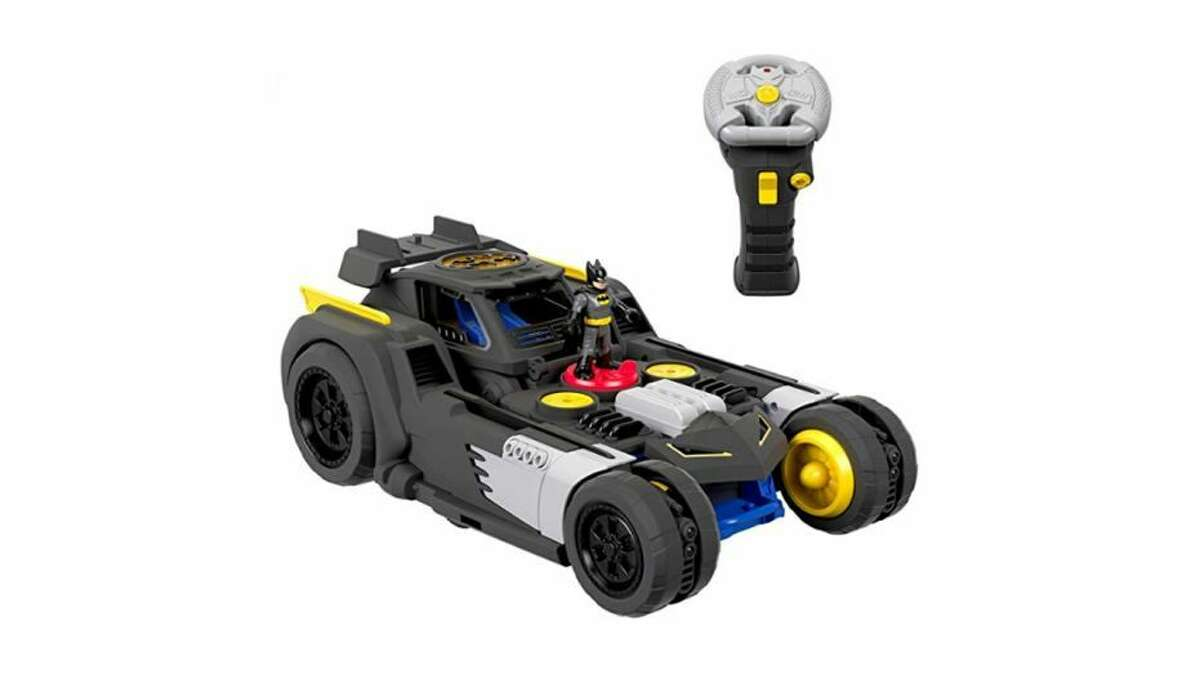 This toy is on the pricier side, but it'll knock the socks off your little Caped Crusader. The Transforming Batmobile goes from car to upright