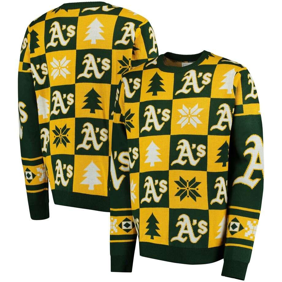 A's ugly Christmas sweater Buy from Fanatics Photo: Fanatics