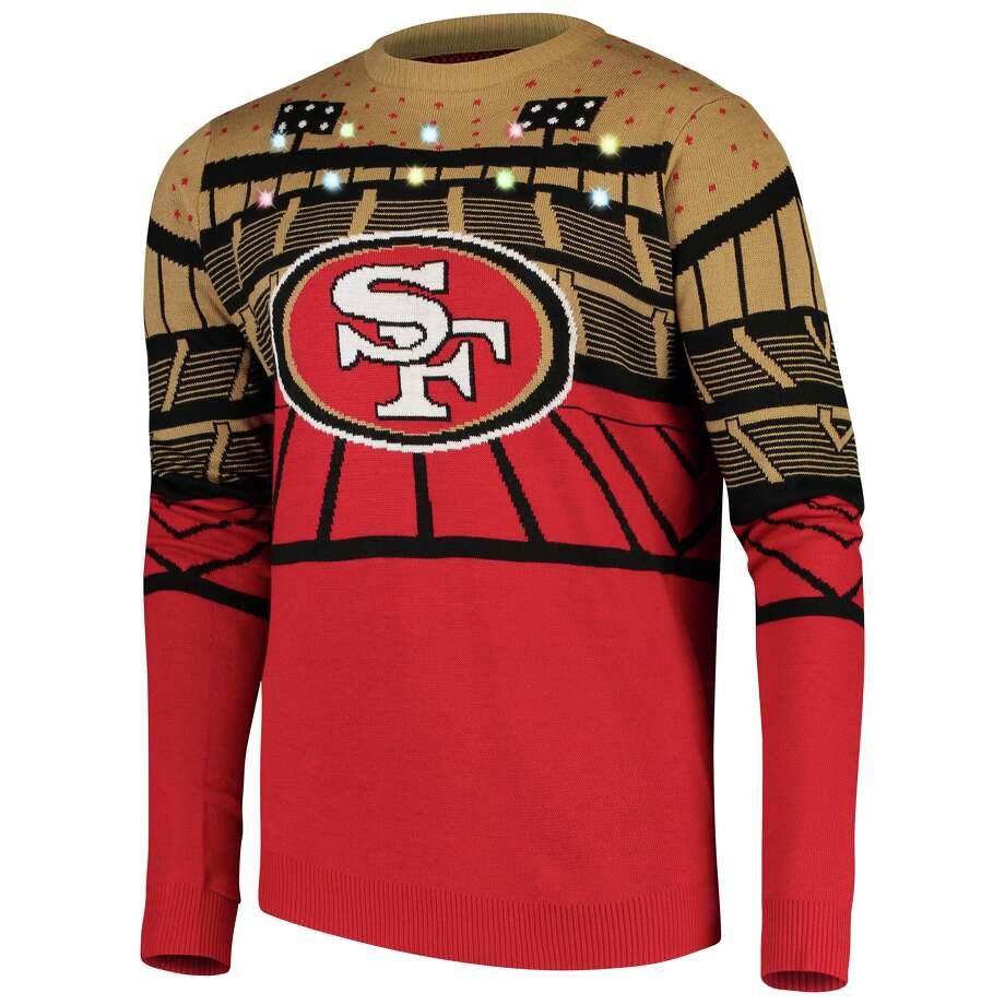 49ers ugly Christmas sweater with lights Buy from NFL Shop Photo: NFL Shop