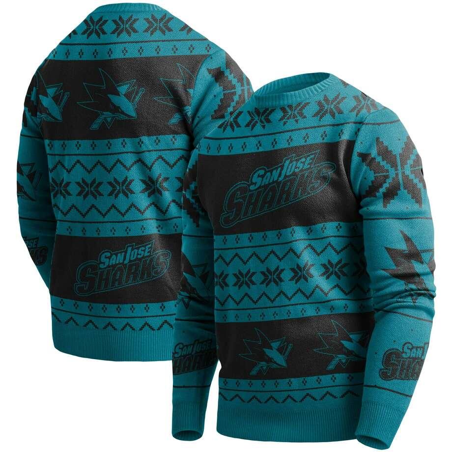 Sharks ugly Christmas sweater Buy from Fanatics Photo: Fanatics