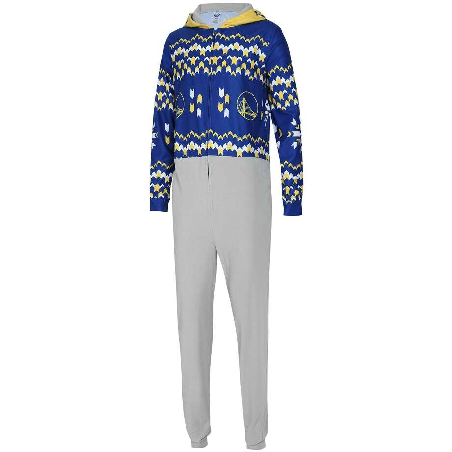 Warriors ugly Christmas sweater union suit Buy from Fanatics Photo: Fanatics