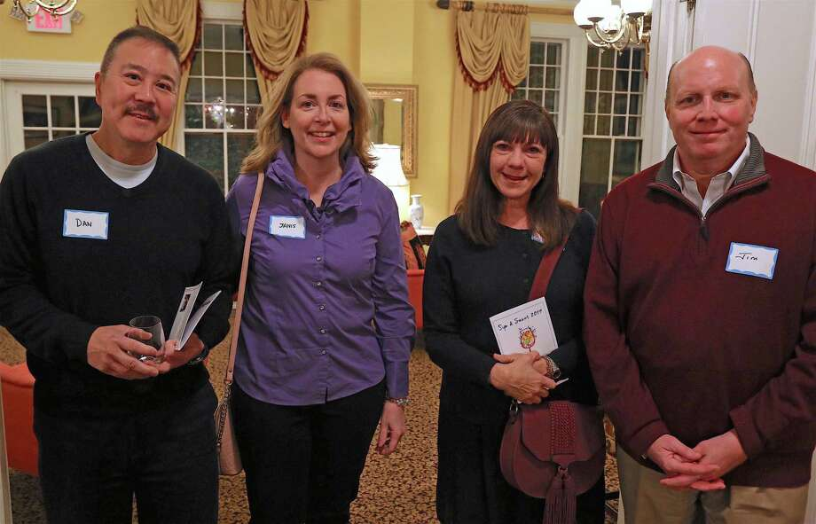 From left are Dan and Janis Liu of Westport, and Lisa and Jim Sullivan of Norwalk, at the Westport Woman's Club's Sip & Savor event on Saturday, Nov. 16, 2019, in Westport, Conn. Photo: Jarret Liotta / Jarret Liotta / ©Jarret Liotta