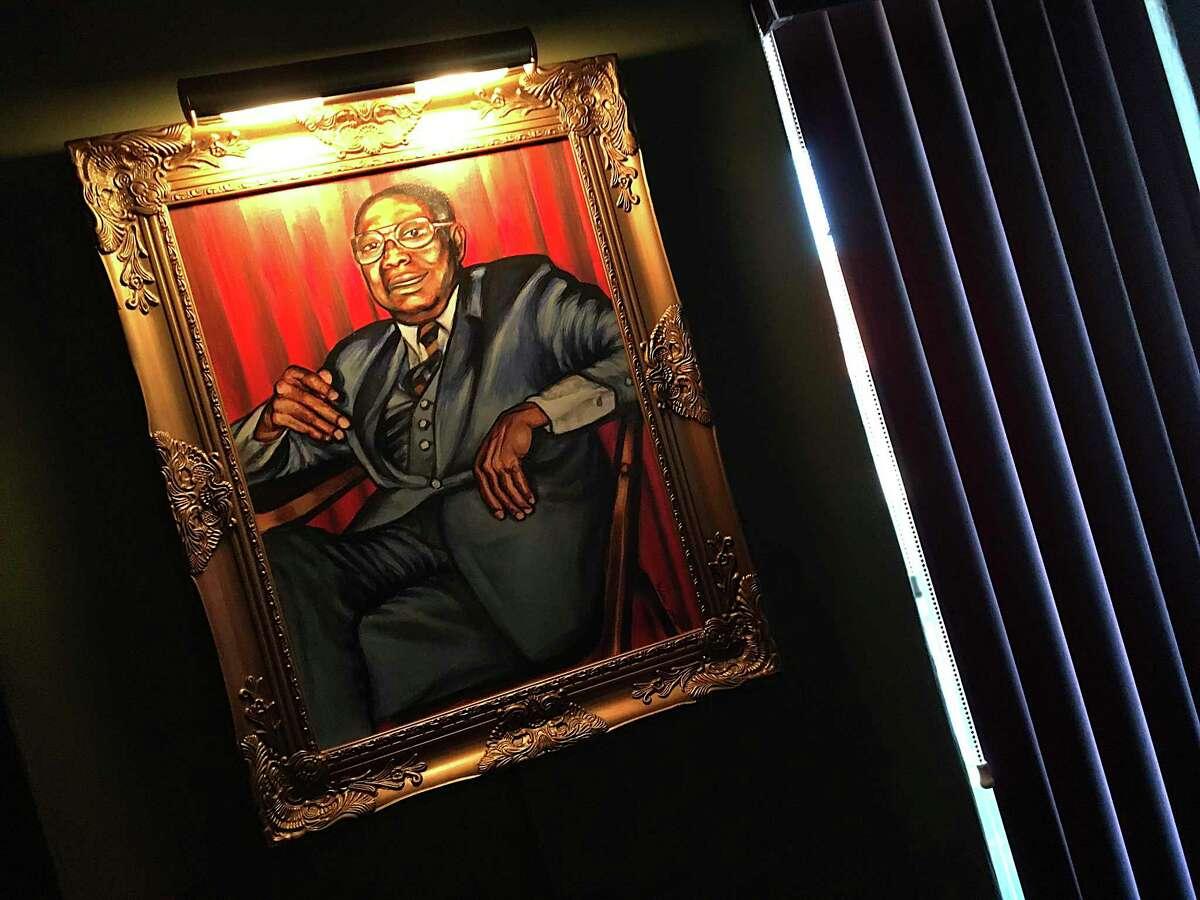 A portrait of founder John Tucker hangs in the newly reopened Tucker's Kozy Korner.