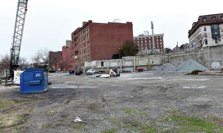 View of the 1 Monument Square property on Monday, Nov. 18, 2019 in Troy, N.Y. (Lori Van Buren/Times Union) Photo: Lori Van Buren, Albany Times Union / 40048283A