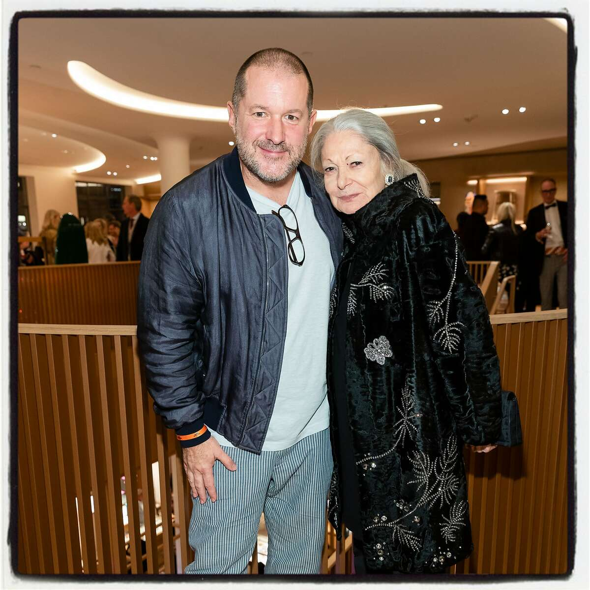 Industrial designer Sir Jony Ive and Denise Hale at the Hermes reopening on Nov. 14, 2019.