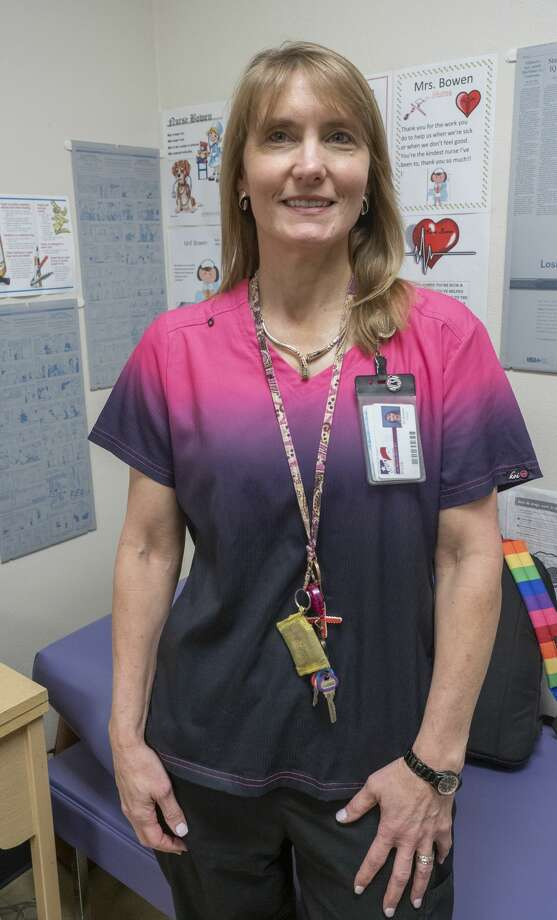 Lori Bowen, nurse at Midland Freshman. 11/14/19  Tim Fischer/Reporter-Telegram Photo: Tim Fischer/Midland Reporter-Telegram