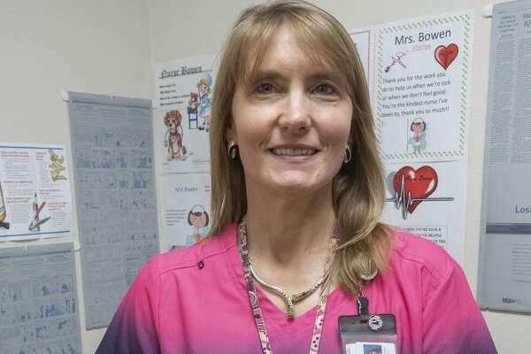 Lori Bowen, nurse at Midland Freshman. 11/14/19 Tim Fischer/Reporter-Telegram