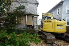 Demolition is set to begin on the blighted house at 46 Mead Ave. in the Byram section of Greenwich, Conn. Monday, Nov. 18, 2019.