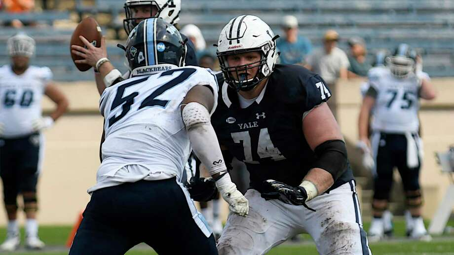Yale offensive lineman Sterling Strother (74) Photo: Yale Athletics / Contributed Photo