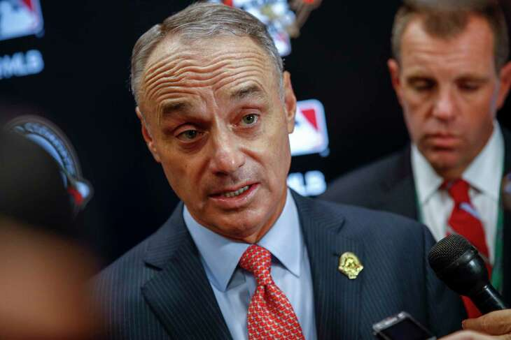 MLB commissioner Rob Manfred oversaw stricter guidelines in 2019 for teams trying to use electronics to steal signs.