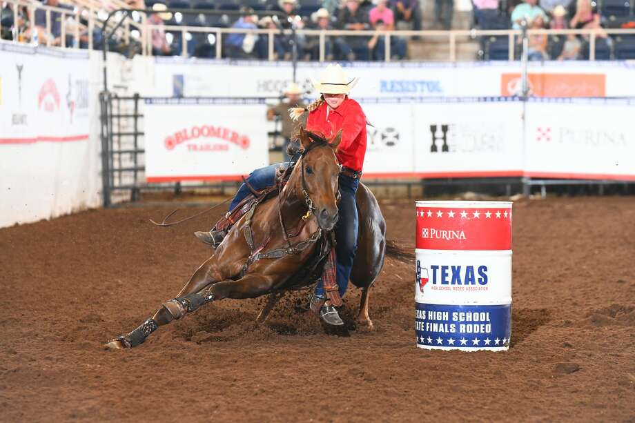 Jordan Driver, of Garden City, is shown here competing in a barrel racing event. Photo: Courtesy Photo