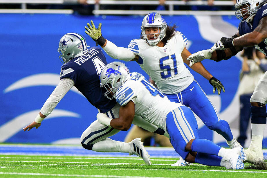 ©Quad N Productions for the Huron Daily Tribune.   Dallas Cowboys at Detroit Lions 11-17-19 The visiting Dallas Cowboys beat the Detroit Lions 35-27 on Sunday, Nov. 17, 2019, at Ford Field. Photo: Quad N Productions/For The Tribune  / Quad N Productions