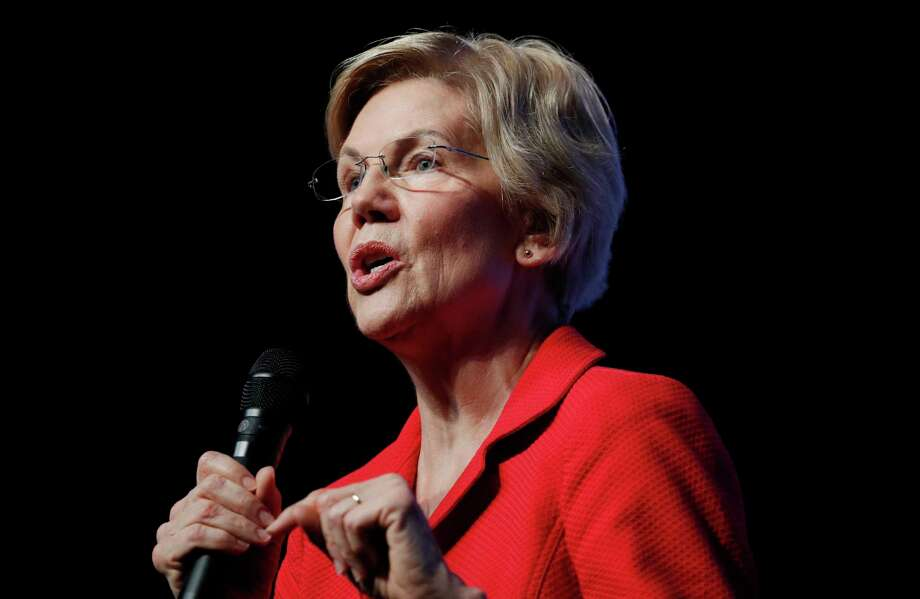 Democratic presidential candidate Sen. Elizabeth Warren, D-Mass., speaks during a fundraiser for the Nevada Democratic Party, Sunday, Nov. 17, 2019, in Las Vegas. (AP Photo/John Locher) Photo: John Locher / Copyright 2019 The Associated Press. All rights reserved.