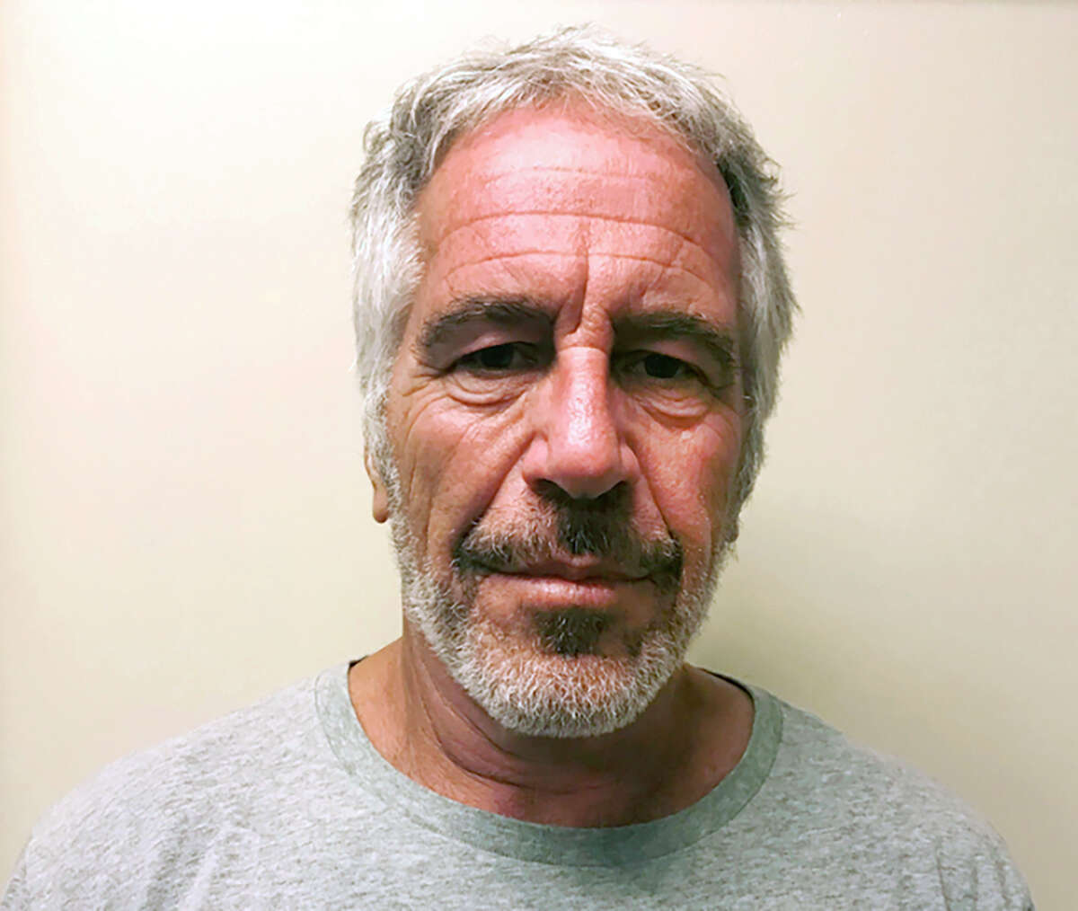 FILE - This March 28, 2017, file photo, provided by the New York State Sex Offender Registry, shows Jeffrey Epstein. Two correctional officers responsible for guarding Jeffrey Epstein the night before he took his own life are expected to face criminal charges this week for falsifying prison records. Thata€™s according to two people familiar with the matter. The federal charges could come as soon as Tuesday and are the first in connection with Epsteina€™s death.. (New York State Sex Offender Registry via AP, File)