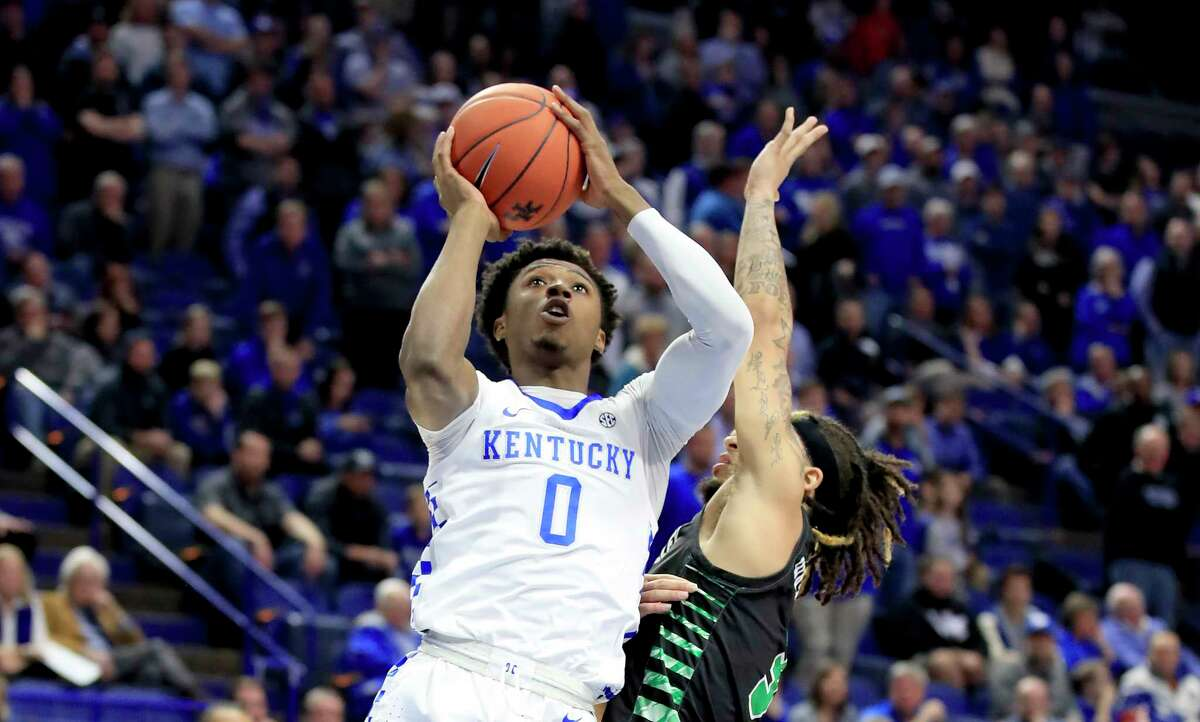 LEXINGTON, KENTUCKY - NOVEMBER 18: Ashton Hagans #0 of the Kentucky Wildcats shoots the ball against the Utah Valley Wolverines at Rupp Arena on November 18, 2019 in Lexington, Kentucky. (Photo by Andy Lyons/Getty Images)