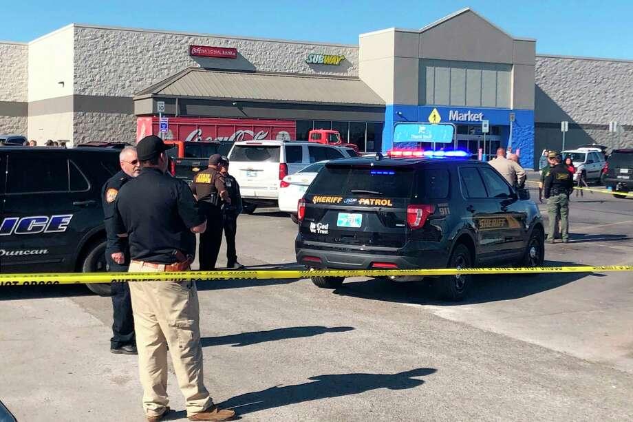 Foto de la tienda Walmart en Duncan, Oklahoma donde hubo un tiroteo el 25 de septiembre del 2019. Photo: Sean Murphy /Associated Press / Copyright 2019 The Associated Press. All rights reserved.