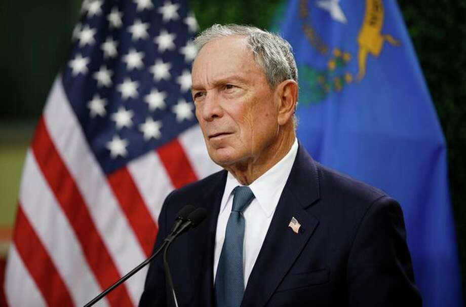 In this Feb. 26 photo, former New York City Mayor Michael Bloomberg speaks at a news conference at a gun control advocacy event in Las Vegas. (AP Photo/John Locher, File) / Copyright 2019 The Associated Press. All rights reserved.