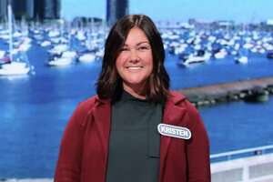 Elizabeth Shelton School first grade teacher Kristen Zack on the set of Wheel of Fortune. She will be on the show Tuesday, Nov. 16, at 7 p.m. on ABC.