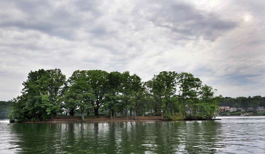 Sand Island, one of about 20 islands on Candlewood Lake, is in the New Fairfield, Conn. portion, Thursday, July 11, 2013. Photo: Carol Kaliff / The News-Times