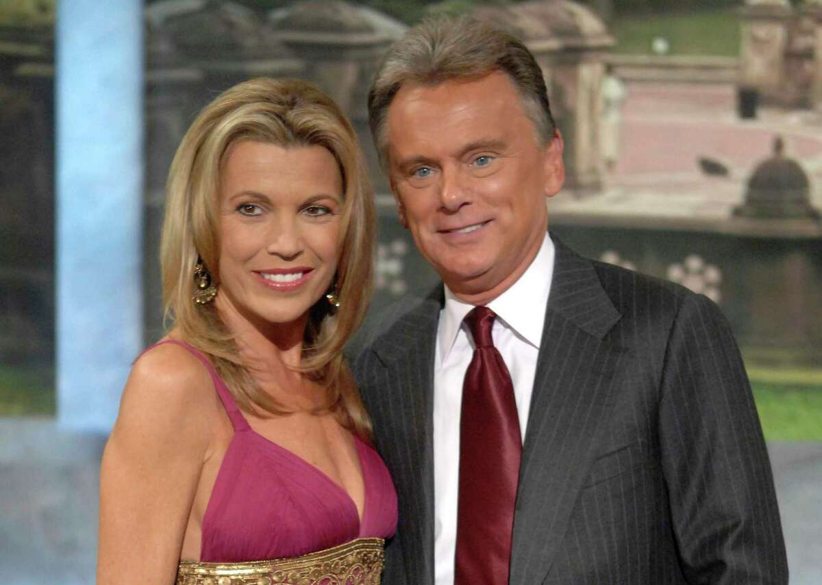 Vanna White and Pat Sajak make an appearance at Radio City Music Hall in 2007 for a taping of celebrity week on