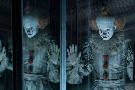 "Bill Skarsgard returns as the evil clown Pennywise in ""It Chapter Two."""