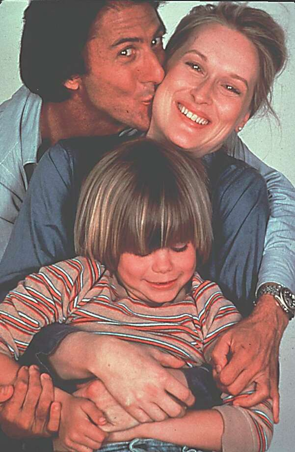 "Meryl Streep. seen here in 1979 with her ""Kramer Vs. Kramer"" co-stars Dustin Hoffman and Justin Henry, rose to stardom in the late 1970s and early 1980s in the sort of major Hollywood studio domestic dramas (with good parts for women) that are seldom made now. Photo: Courtesy Of Columbia Pictures / COURTESY PHOTO / Connecticut Post Contributed"