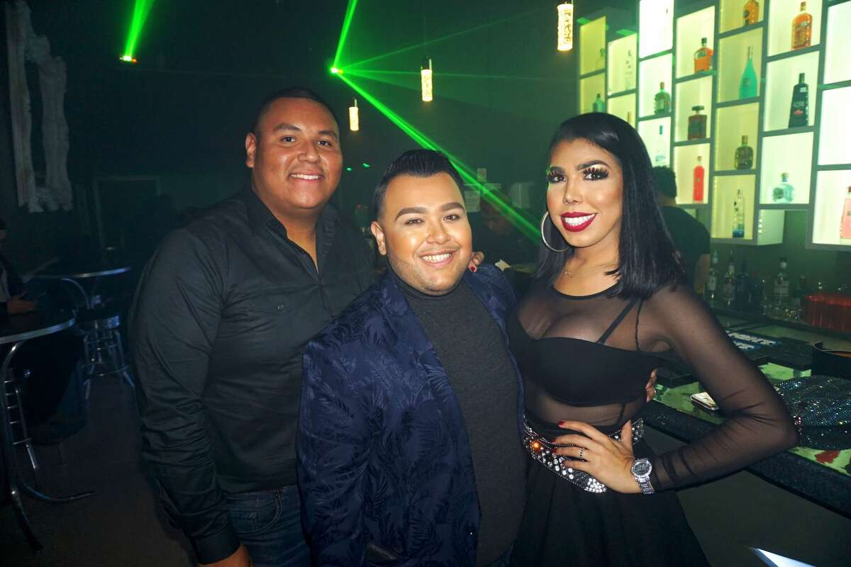 Mando and Luis Gonzalez and Tiffany Kennedy at Kolors Night Club