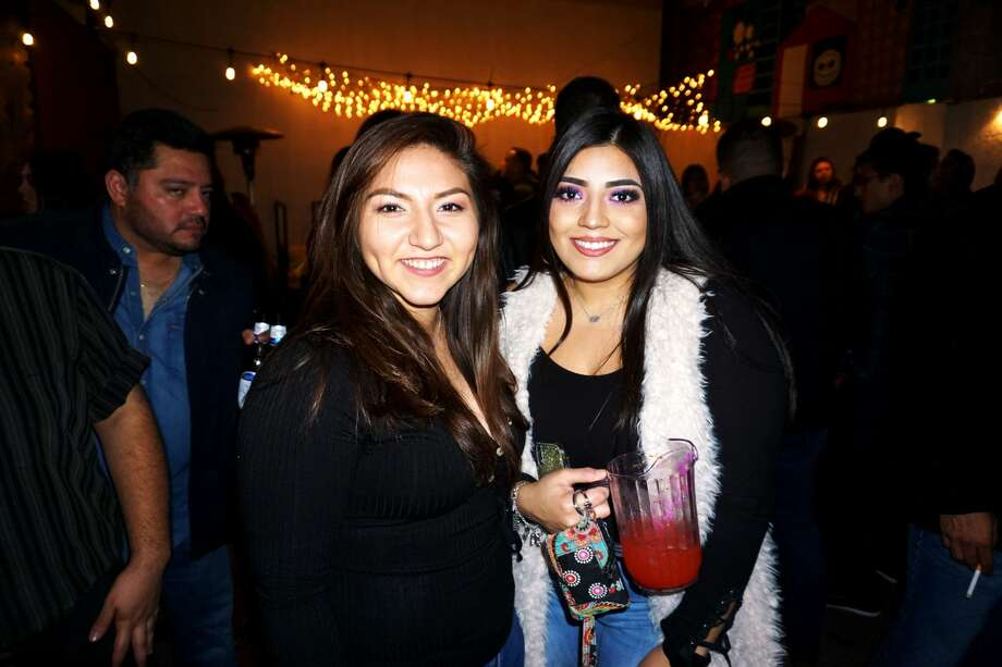 Alexandra Carmona and Ashly Valdez at The Happy Hour Downtown Bar Photo: Jose Gustavo Morales/Laredo Morning Times