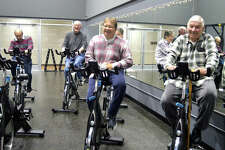 Exercise class for people with Parkinson's disease at the Niebur Center YMCA in Edwardsville.