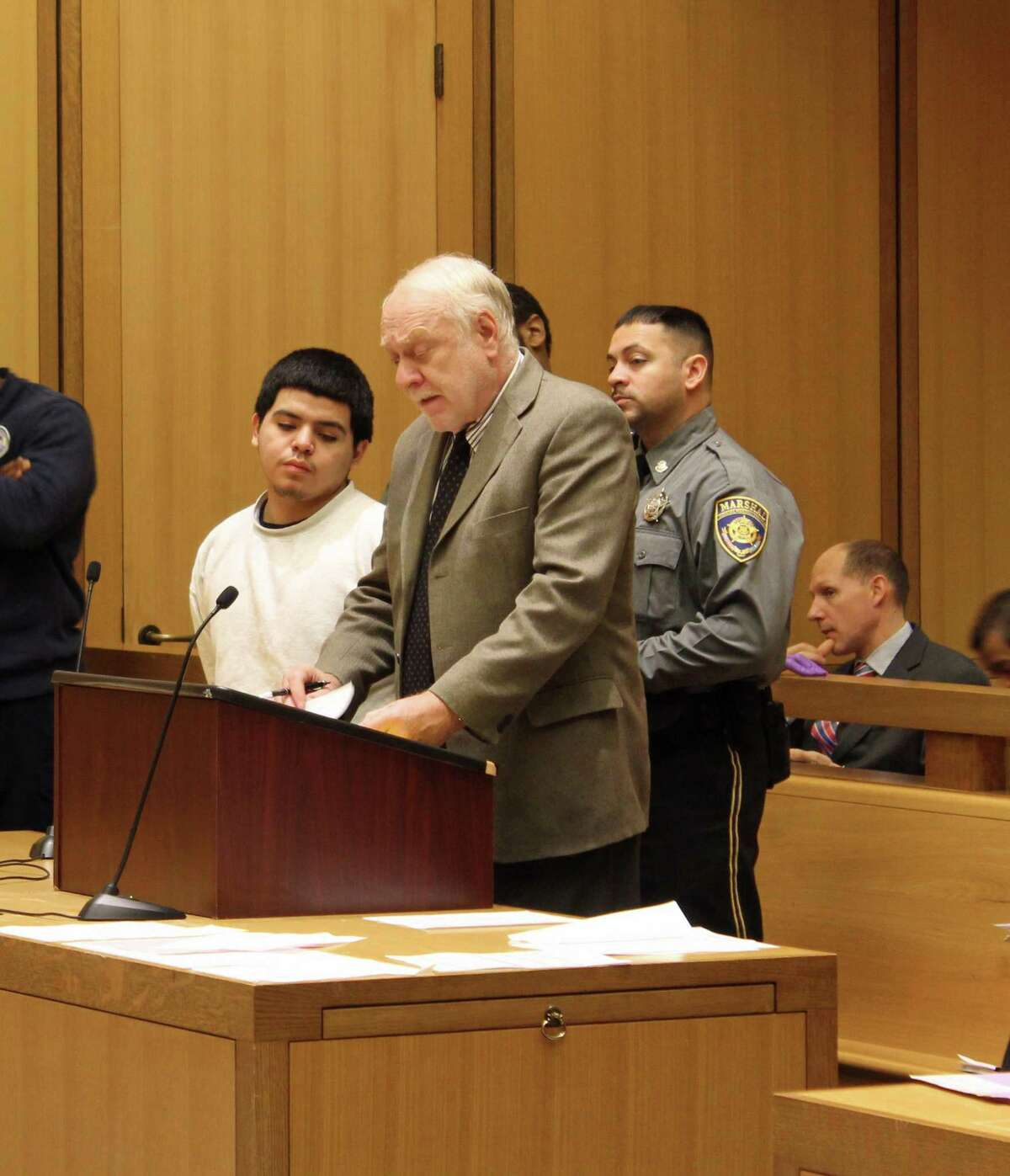 Jerry Diaz, 18, was arraigned at Stamford Supreme Court Nov. 19 with a number of charges including two counts of second-degree manslaughter.
